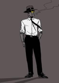 Robot, a gentleman robot