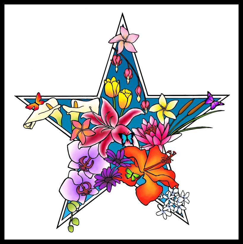 Star flower tattoo by tpants on deviantart for Star and flower tattoos