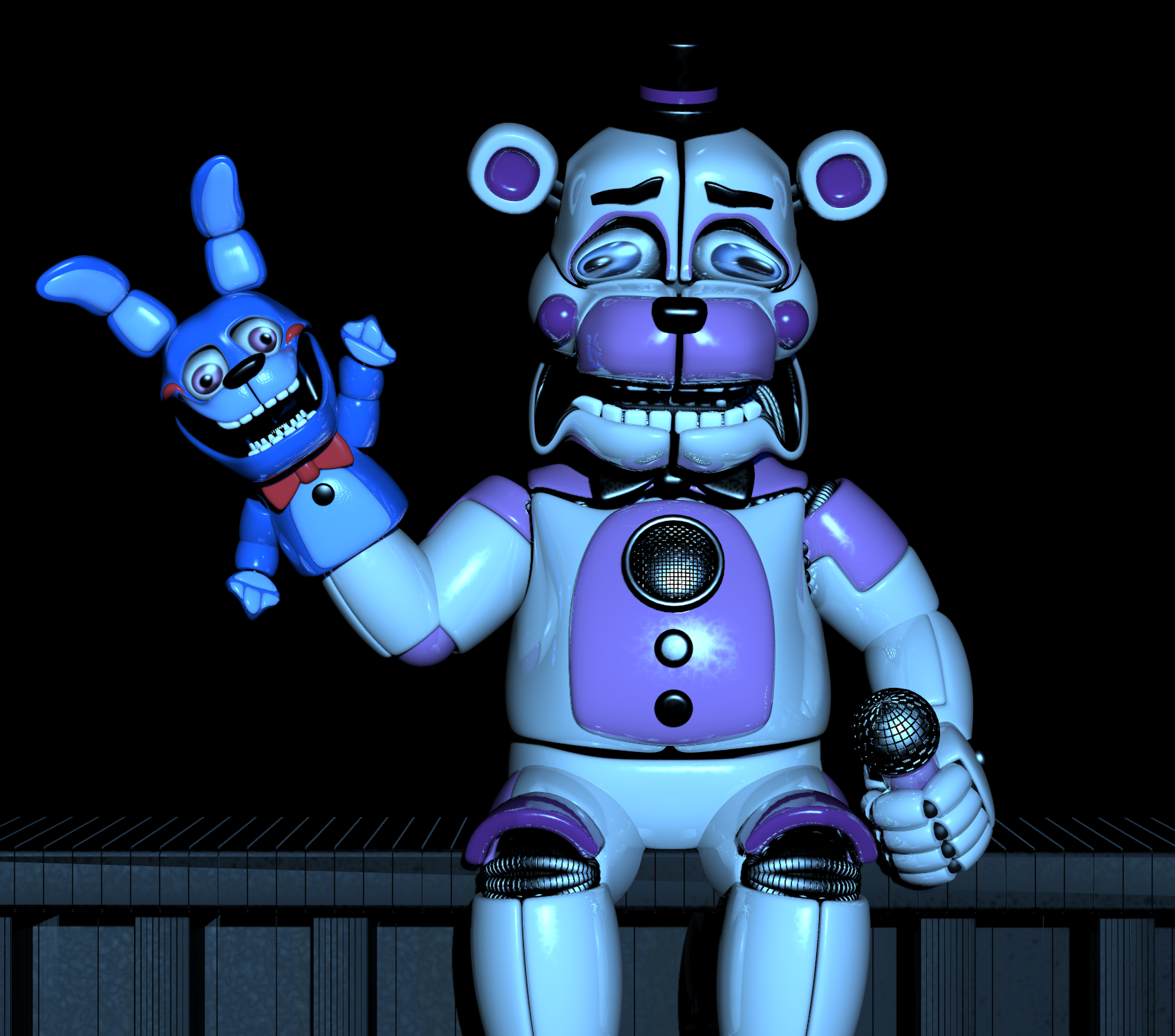 Funtime Freddy And BonBon Go On A Drug Trip By Pareogo On