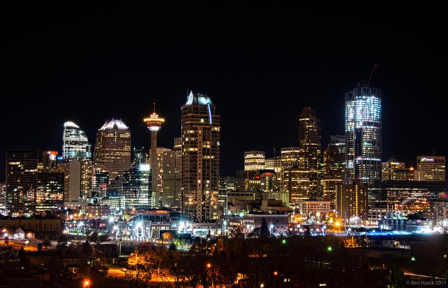 Calgary Skyline By Skyhy On Deviantart