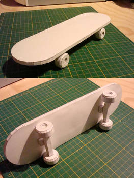 Customisable Paper Skateboard