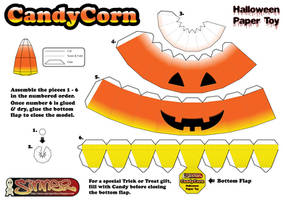 Candy Corn Papertoy candy box