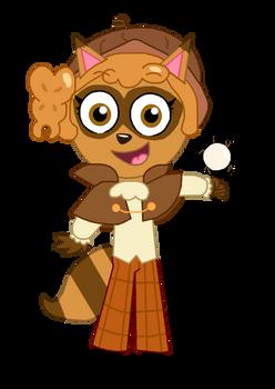 Raccoon Walnut Cookie