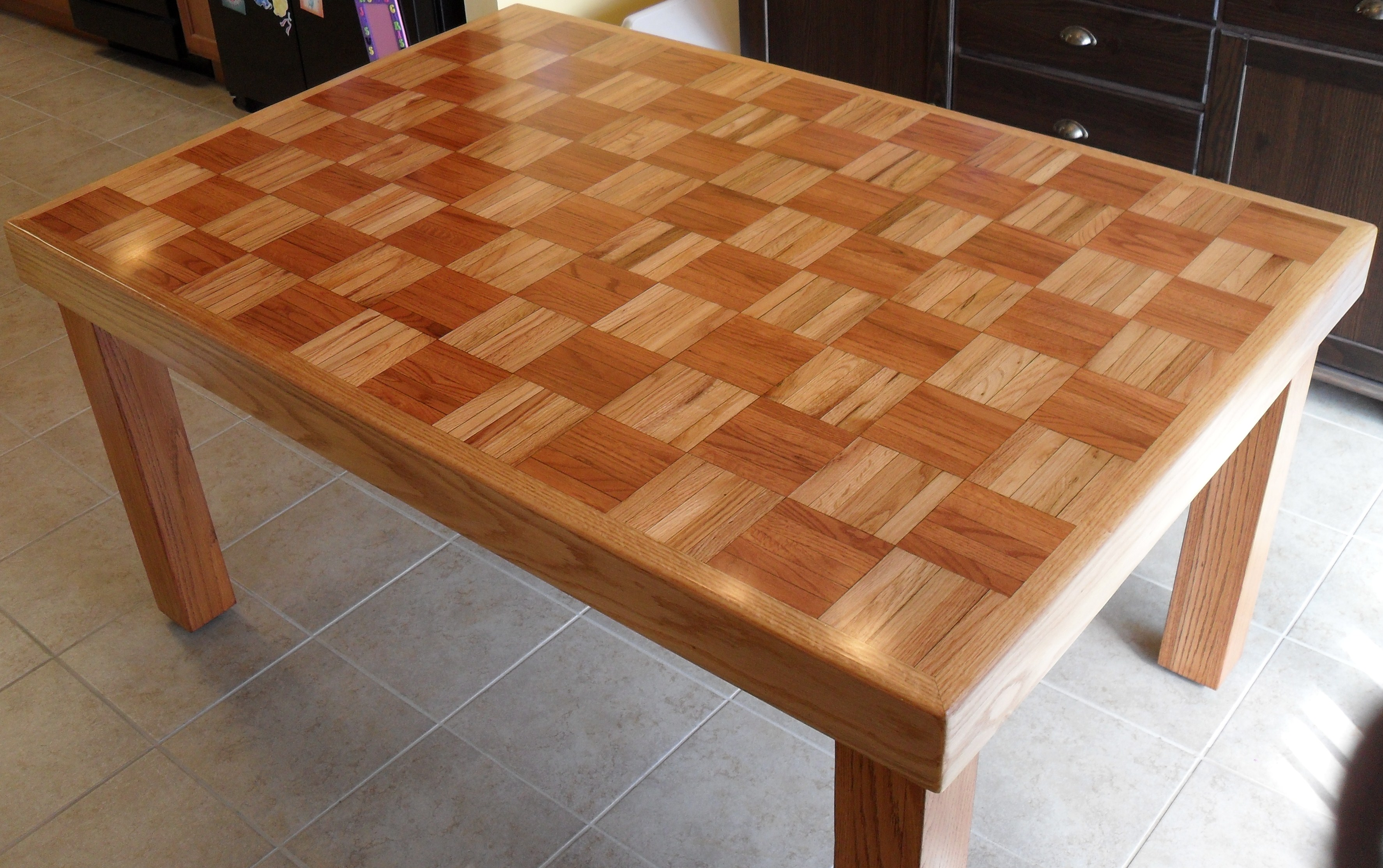 Family Made Table Refinishing #5 By Hearte42 On DeviantArt. Full resolution  portraiture, nominally Width 3548 Height 2227 pixels, portraiture with #7F4320.