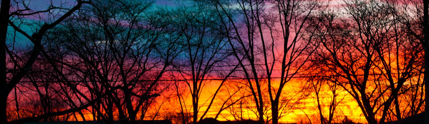 December Sunrise in Suburbia by Hearte42