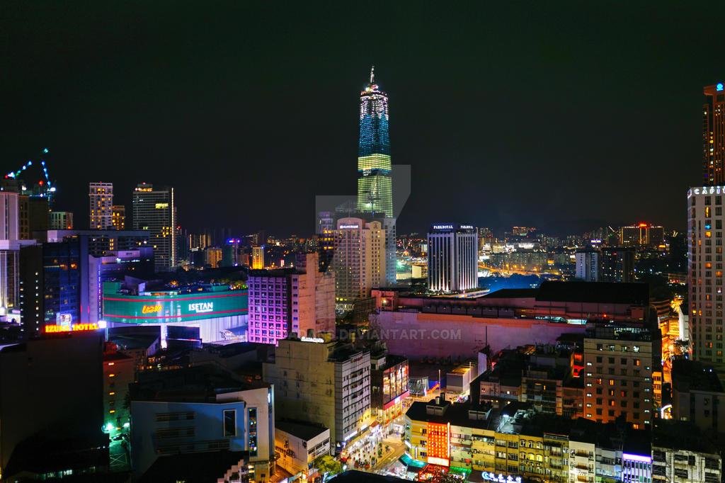 Kuala Lumpur at Night by Dadans