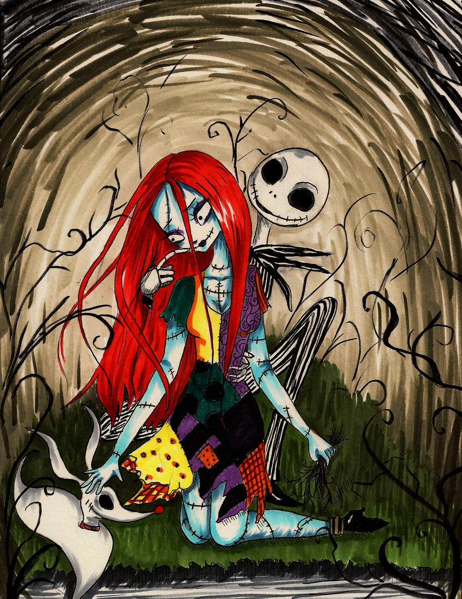 Sally and jack night by peevelmouse on deviantart for Disney weihnachtskugeln