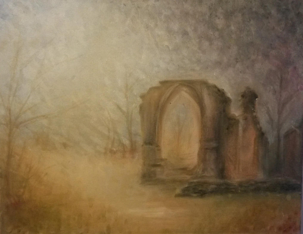 Priory painting by peevelmouse