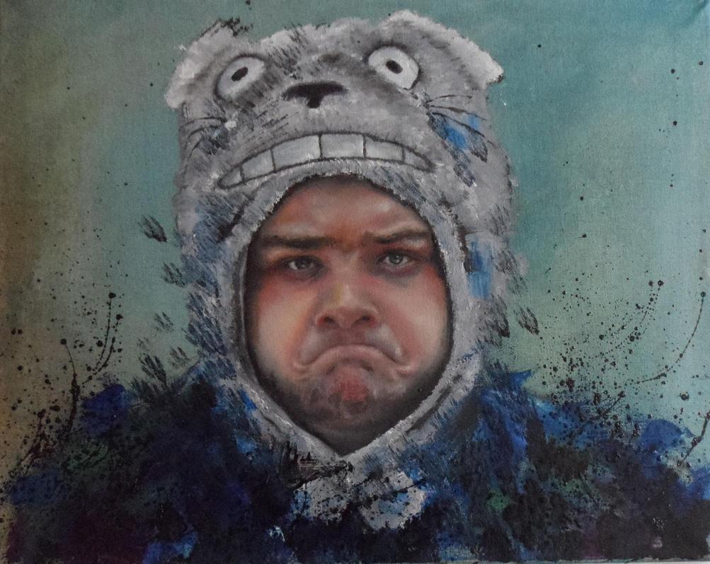 Grumpy bear by peevelmouse