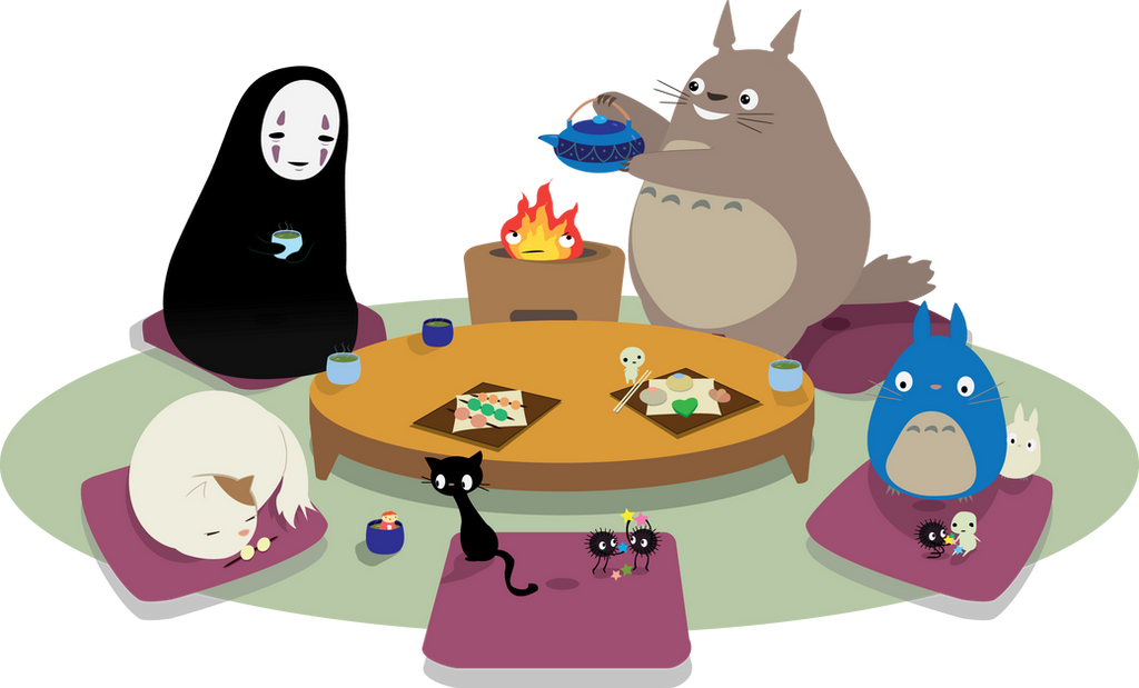Tea time at Studio Ghibli by peevelmouse