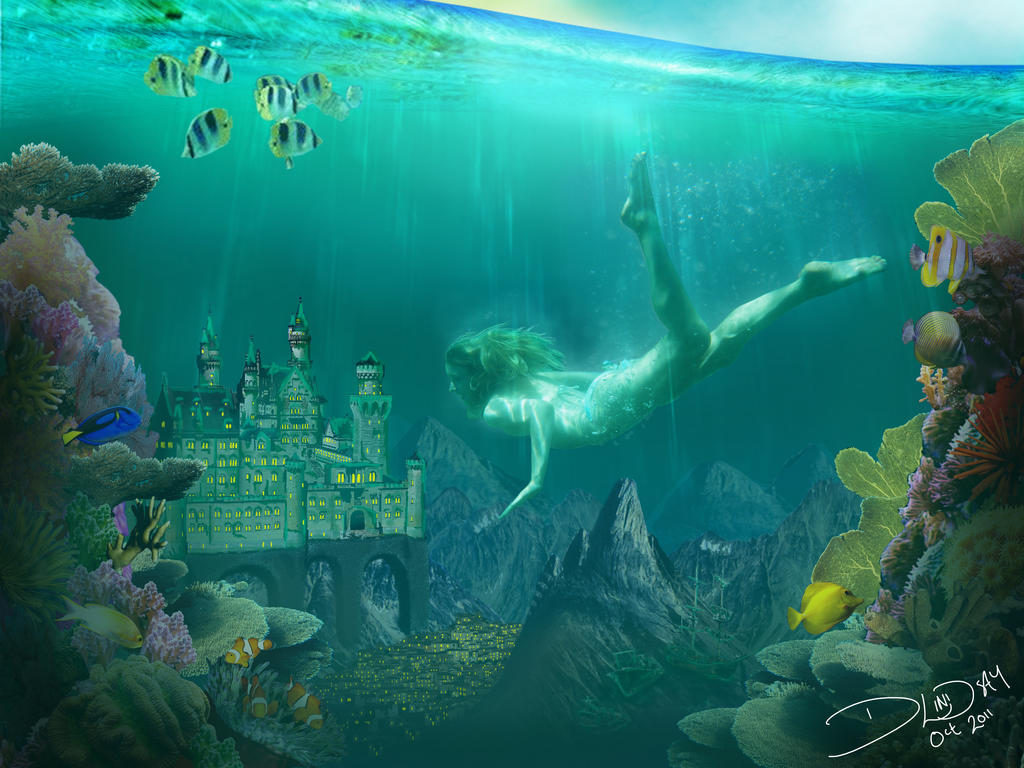 Underwater Mermaid Castle Underwater Castle by W...