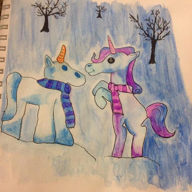 Snowicorn by Itchywitchygirl