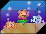 Koi Tank with Flower