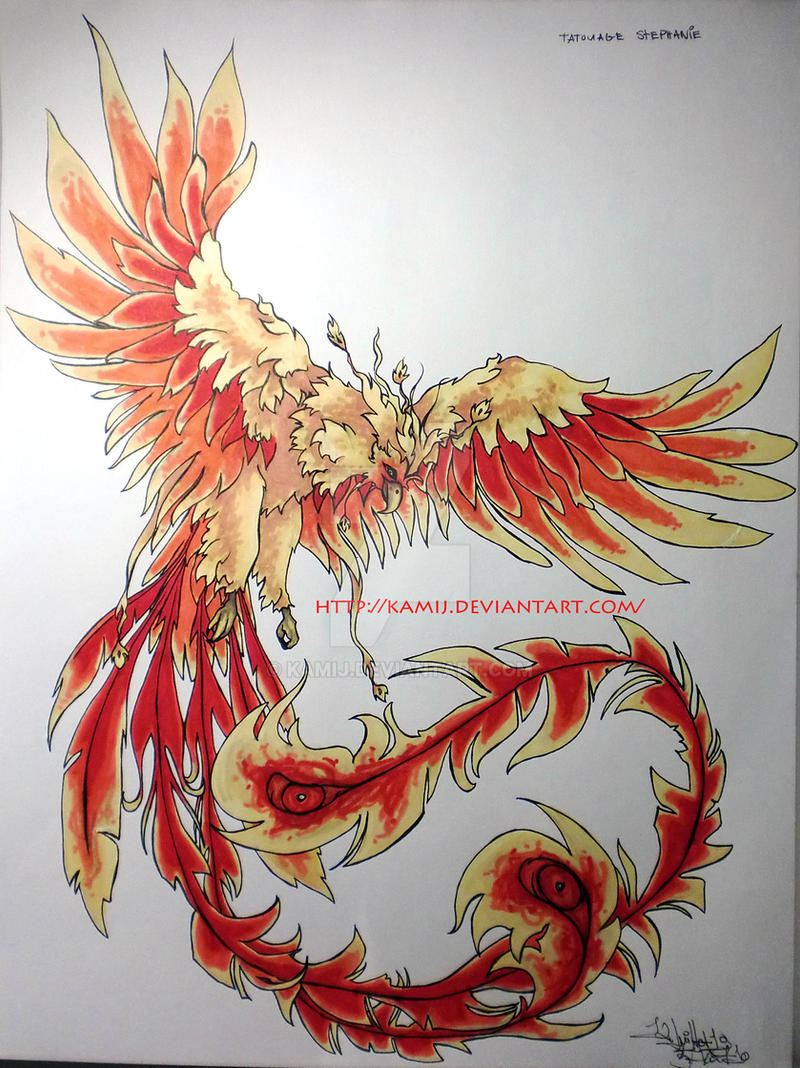 PhoenixTattooColor by Kamij