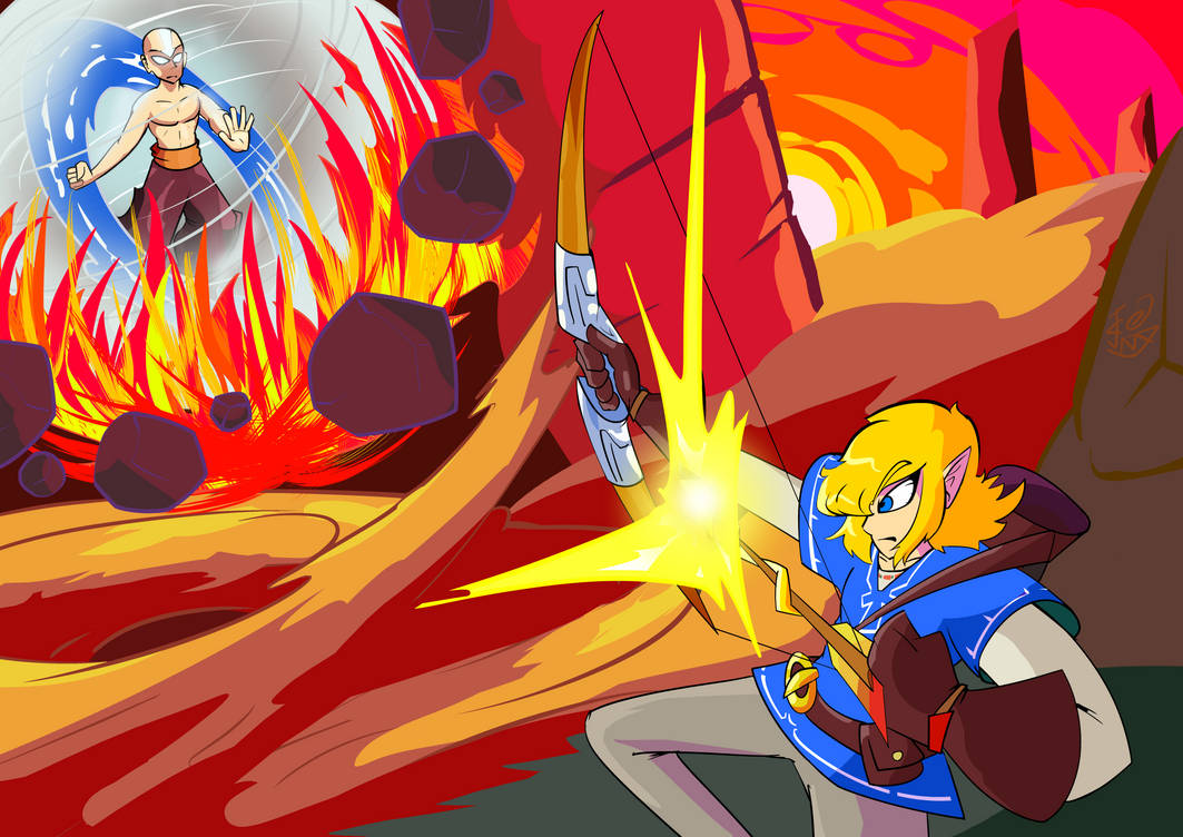 Death Battle Link Vs Aang By Majorm117 On Deviantart Rock howard (ロック・ハワード, rokku hawādo) is a video game character who was introduced in snk's fighting game garou: death battle link vs aang by majorm117