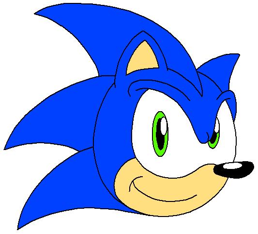 sonic the hedgehog cartoon head