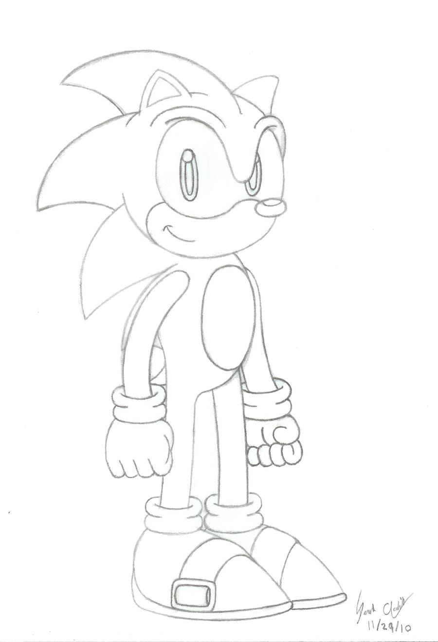 Sonic Birthday Drawing by FirebirdPhoenix87 on DeviantArt