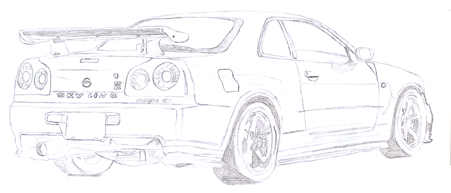 coloring pages nissan gtr - nissan r35 gtr coloring coloring pages