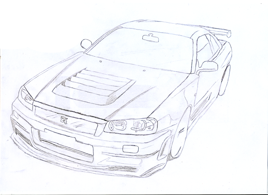Nissan Skyline GTR - Front by