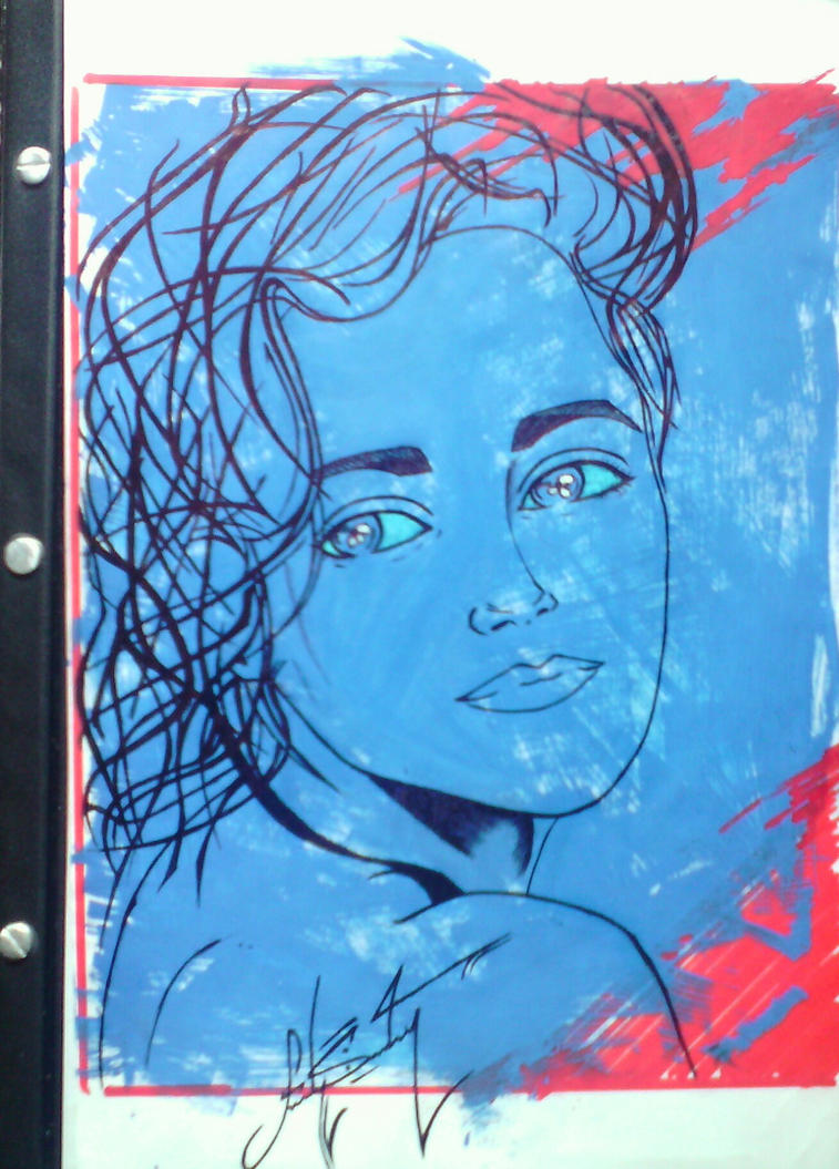 Rayando en azul by madSamGonzalez