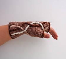 Neutral Waves Fingerless Glove