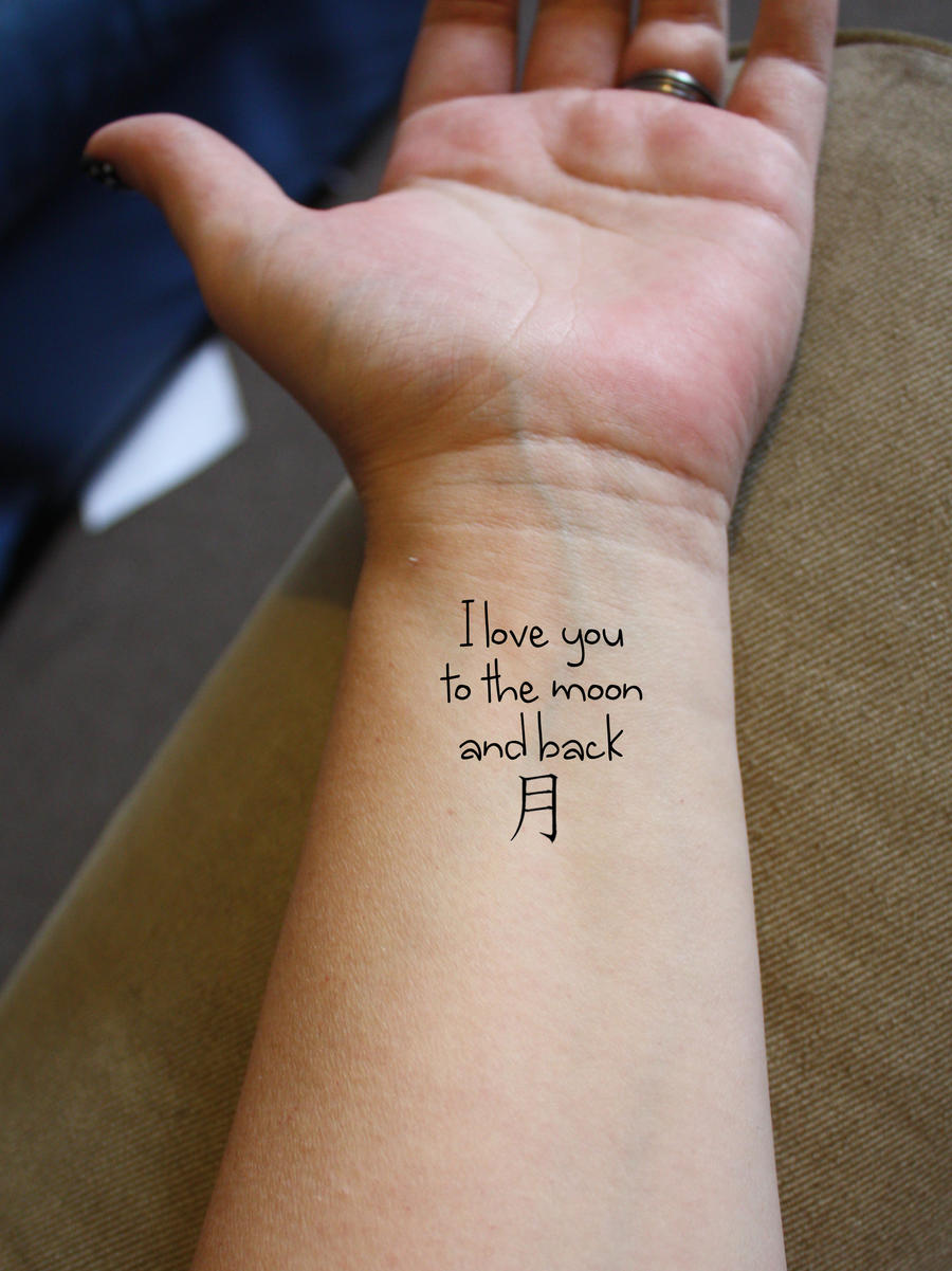 To the moon and back tattoo idea by tallis-designsI Love You To The Moon And Back Tattoo Ideas