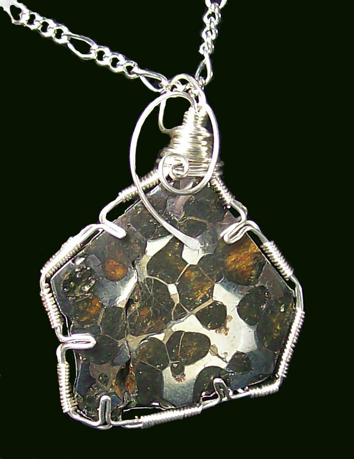 Pallasite meteorite and sterling silver pendant by pallasite meteorite and sterling silver pendant by heatherjordanjewelry aloadofball Images