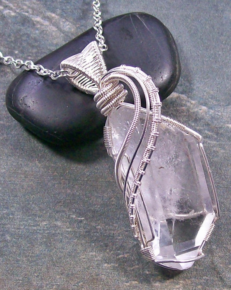 Quartz crystal and silver wire wrapped pendant by quartz crystal and silver wire wrapped pendant by heatherjordanjewelry aloadofball Gallery