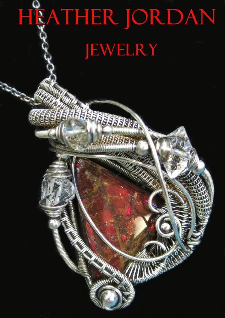 Ammolite and herkimer diamond pendant in sterling by ammolite and herkimer diamond pendant in sterling by heatherjordanjewelry aloadofball Image collections