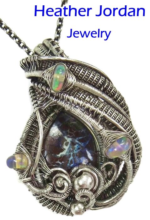 Koroit Boulder Opal and Ethiopian Opal Pendant by HeatherJordanJewelry