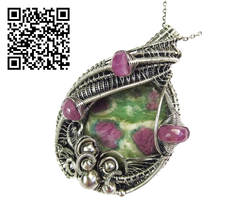 Ruby Fuschite Pendant with Pink Sapphire