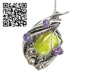 Lemon Jasper Pendant with Amethyst