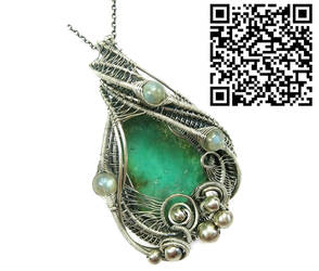 Chrysoprase Pendant in Sterling S with Labradorite