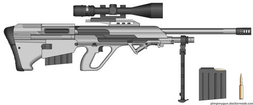 My Bullpup Sniper rifle by goodfebruarian