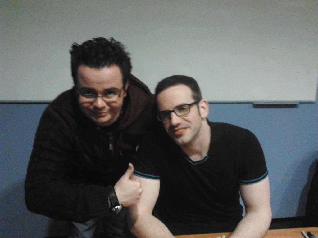 Kaizoku-con 2014 part 2,me and J Michael Tatum by Sketchfan