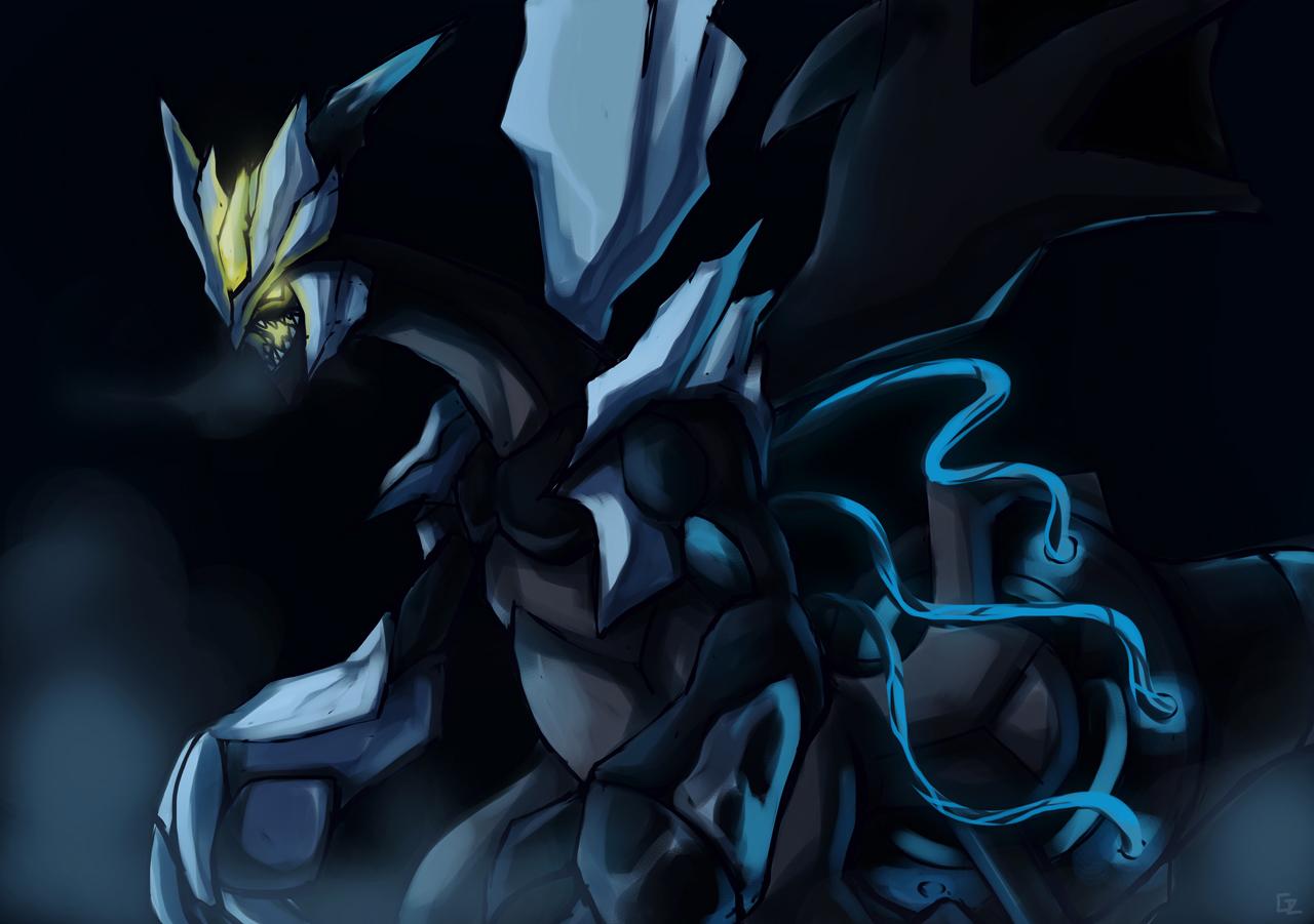 Black Kyurem... Shiny Legendary Pokemon Black 2