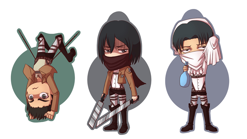 Attack on Titan chibis by HasegawaVega on DeviantArt