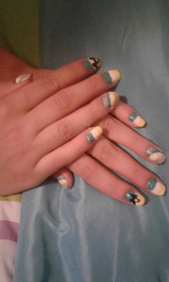 My new nails design (Bad romance women\'s suffrage) by hanybony1614 ...