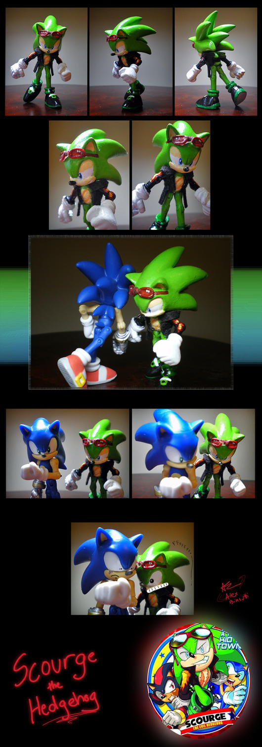 Scourge the Hedgehog Model by Olive-Owl