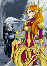 Don't leave me, Diana x Leona - Leaugue of Legends by rose-92
