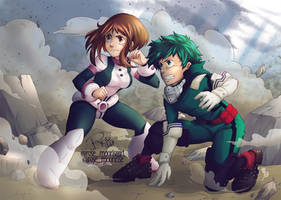 Deku x Uravity - Boku no Hero Academia | Fan art by rose-92
