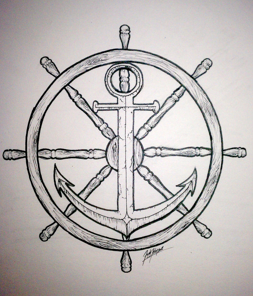 wheel and anchor by synisterartdesign on deviantart