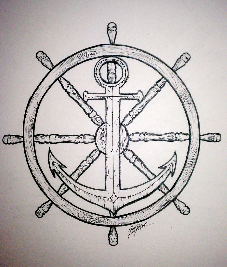 Anchor drawings with quotes quotesgram for Anchor and wheel tattoo