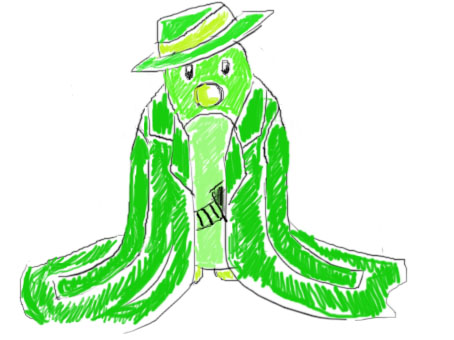 Green Penguin by FlamiatheDemon
