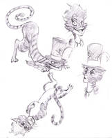 CatFacilier Doodles by FlamiatheDemon