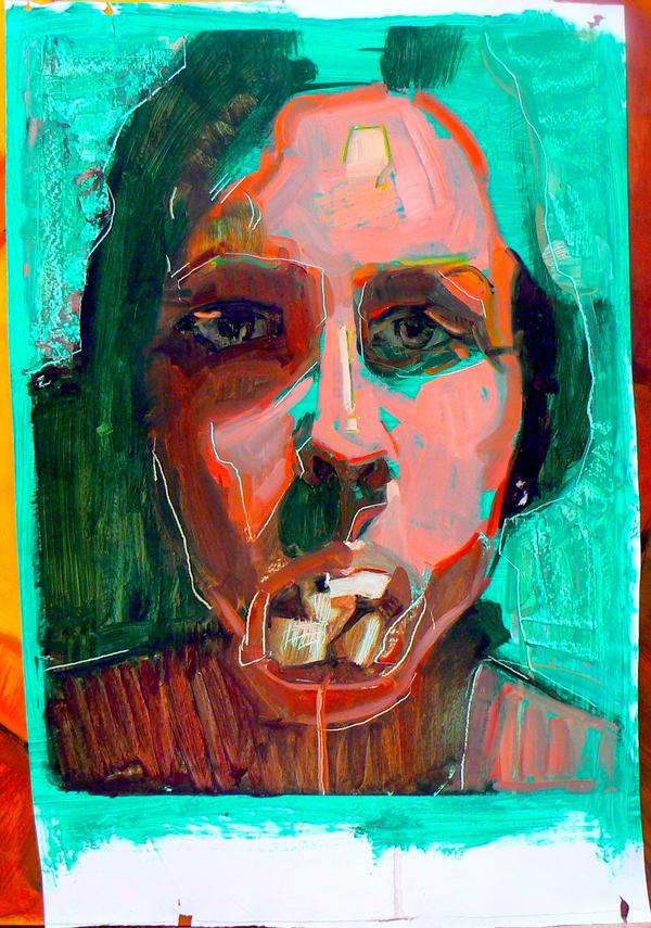 Self portrait with rocks 4 by sarasnaps