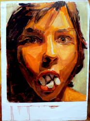 Self portrait as a polaroid by sarasnaps
