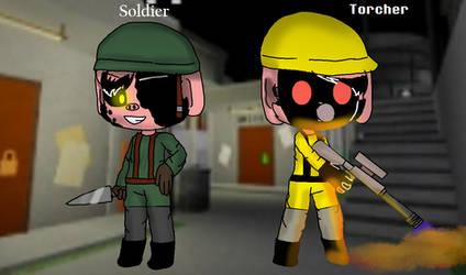 Soldier X Torcher Roblox Piggy