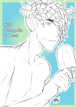 Inktober #28 [pangolin + heat]