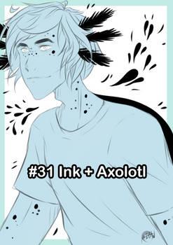 Inktober #31 [ink + axolotl]